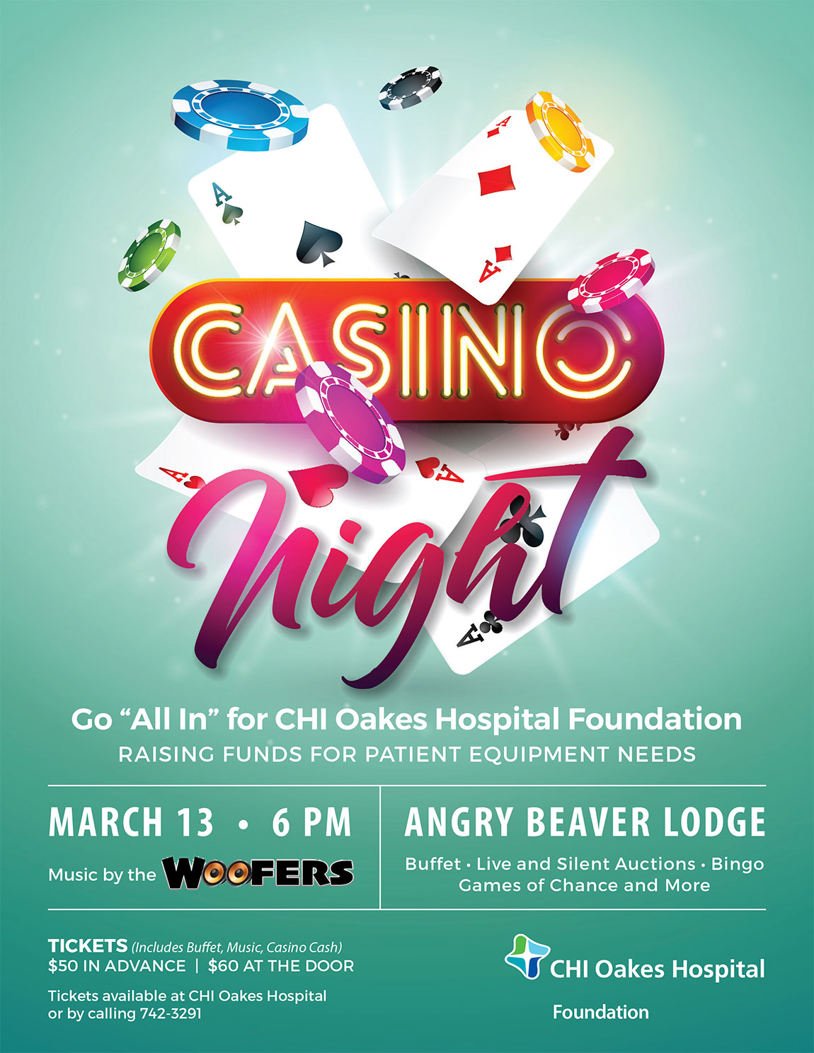 Casino Night 2020 @ Angry Beaver Lodge | Oakes | North Dakota | United States