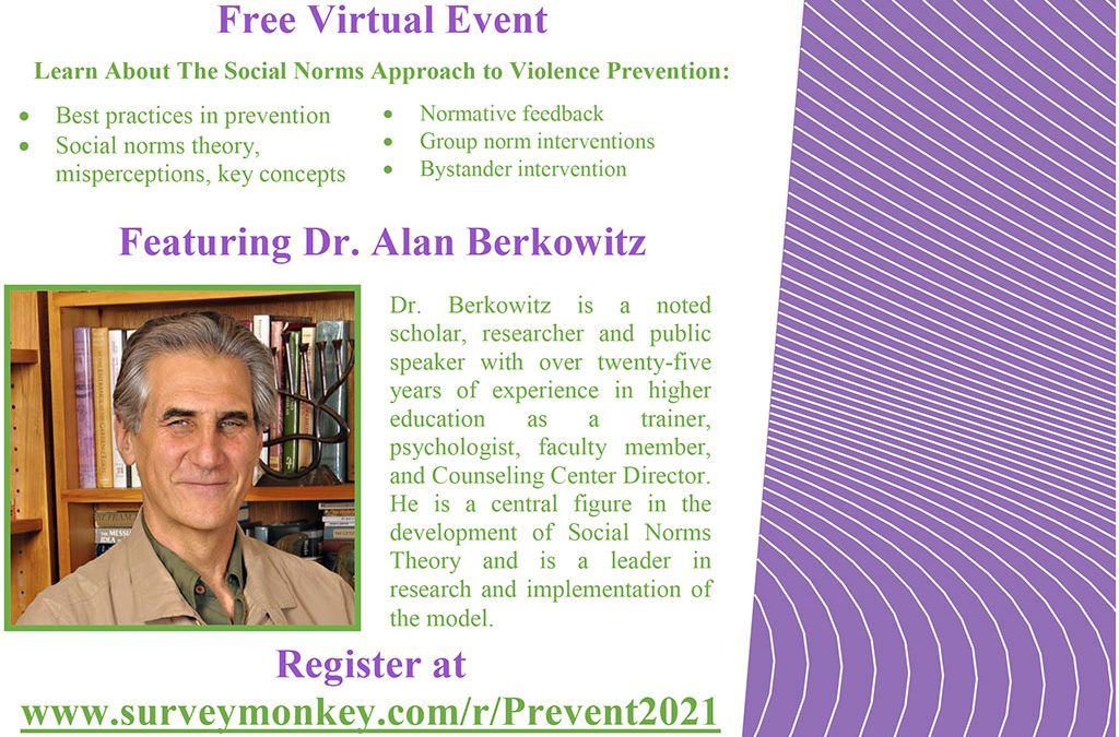 CHI Summit to Host National Expert, Dr. Alan Berkowitz